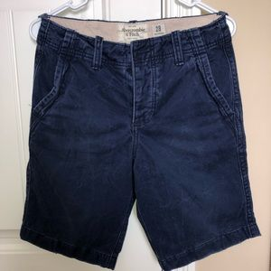 Abercrombie and Fitch Blue Cargo Shorts